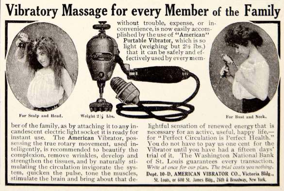 Advertisement for Vibrators (Source: American Vibrator Co., 1906)