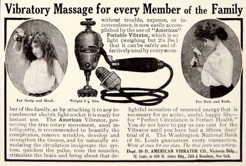 Advertisement for Vibrators (Source: American Vibrator Co., 1906)